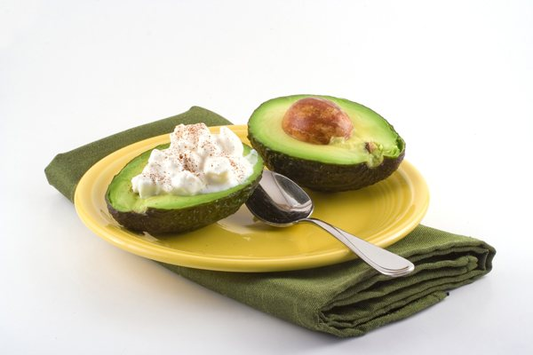 Healthy Snacks - Avocado with cottage cheese